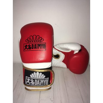 Daimyo Boxing Gloves Red and White