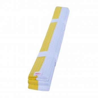 Cinturón de Artes Marciales Blanco Amarillo