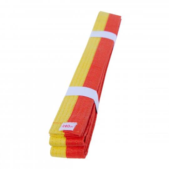Cinturón de Artes Marciales Amarillo Naranja