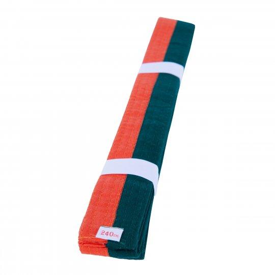 Cinturón de Artes Marciales Naranja Verde