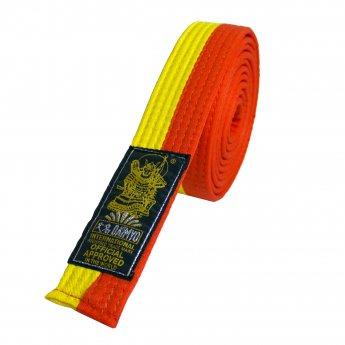 Cinturón amarillo y naranja