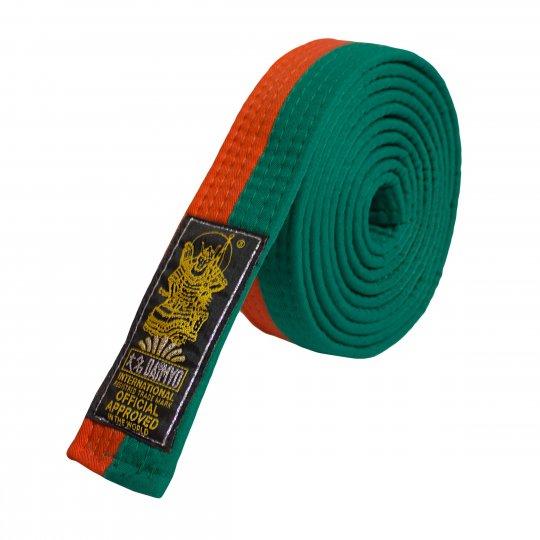 Cinturón naranja y verde