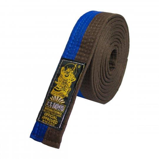Cinturón azul y marrón