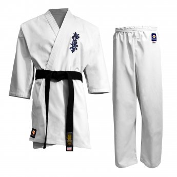 Uniforme de karate Kyokushinkai blanco