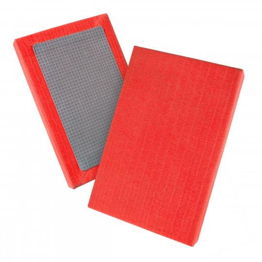 Tatami de judo de paja de arroz homologado rojo